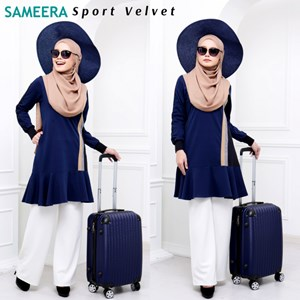 SPORT VELVET - WOMAN/MOM Navy Blue Size M (Ready stock HQ QISSARA)