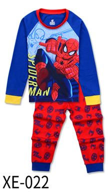 XE-022 'SpiderMan' KIDS PYJAMAS (2T-7T)