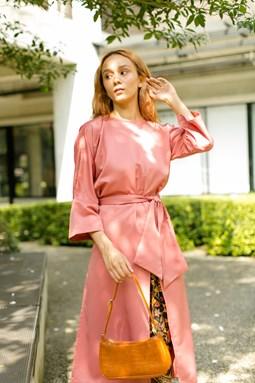 Kaylea Wrap Top (Coral Pink)