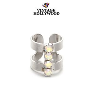 VINTAGEHOLLYWOOD [ICE CREAM GIRL] SPARKLING LINE KNUCKLE RING INSPIRED