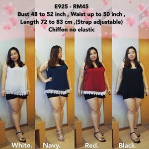 E925 *Ready Stock *Bust 48 to 52inch/122-132cm