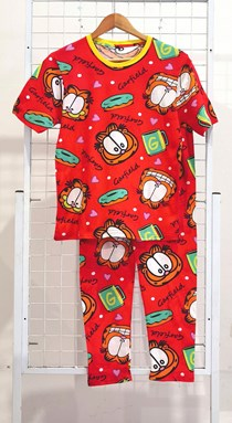 SIZE 3XL DEWASA Pyjamas GARFIELD LOVE DONUT RED (GL)