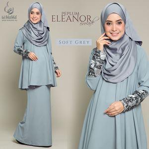 Peplum Eleanor Brocade : Soft Grey