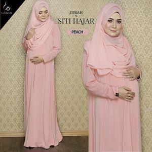 Jubah Siti Hajar : Peach