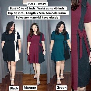 9D51 *Ready Stock *Bust 40 to 48 inch /101-121cm