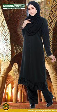 JUBAH AZ ZAHRAA - BLACK