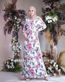 SHAKEERA PLEATED DRESS