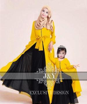 J065 PRINCESS DRESS SET YELLOW