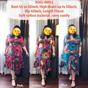 9565 *Ready Stock *Bust 44 to 56 inch/ 111-142cm