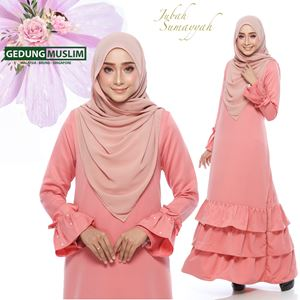 JUBAH SUMAYYAH - PEACH  COLOR