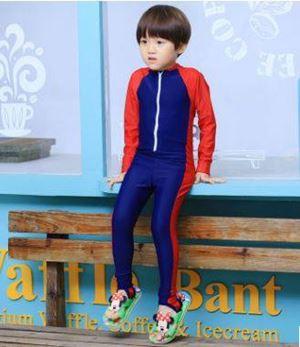 @  S1130117P  RED BLUE CHILDREN SWIMSUIT ( 3Y-8Y )