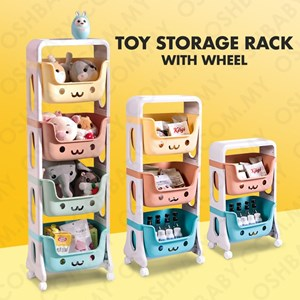 TOY STORAGE RACK WITH WHEEL