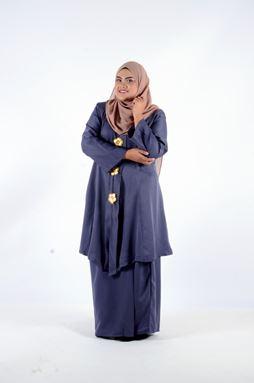 Kebaya Khadeejah - Gray