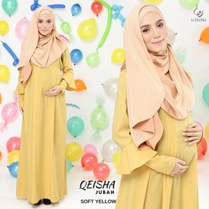 Jubah Qeisha : Soft Yellow