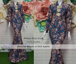 Kebaya Batik Arina Light Brown