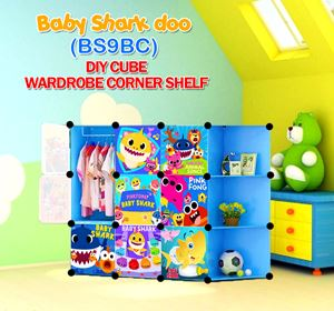 Baby Shark Doo BLUE 9C DIY WARDROBE w CORNER RACK (BS9CB)