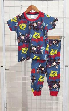 SIZE 2  KIDS Pyjamas BOBOI BOY AND FRIENDS BLUE (HELAL)