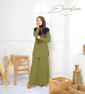 EMMALINE SUIT IN PEAR GREEN