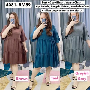 4081 * Ready Stock * Bust 40 to 48inch / 102 - 121cm
