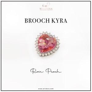 Brooch Kyra Rose Peach