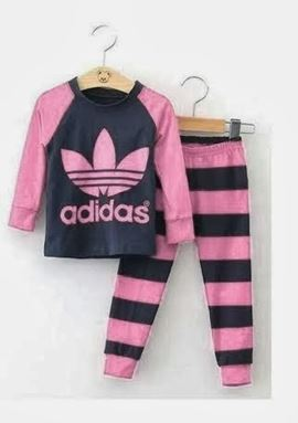 Adidas Pyjamas - Pink Black - Small