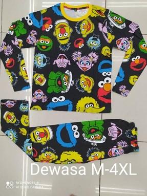 Pyjamas  SESAME STREET BLACK EDITION: Size DEWASA M- 4XL