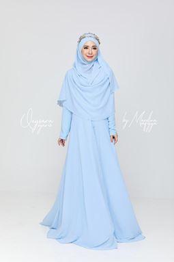 JUBAH QAYSARA SYARIE - SKY BLUE