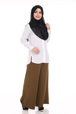 Palazzo  (brown coffee) Maternity Friendly with adjustable waistband