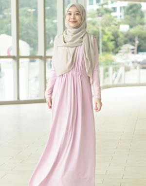 SHERYL DRESS IN DUSTY PINK