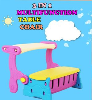 3 IN 1 MULTIFUNCTION TABLE CHAIR ETA 15 APRIL 19