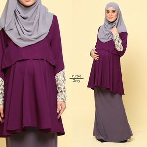 Eleanor Peplum Blouse : Purple