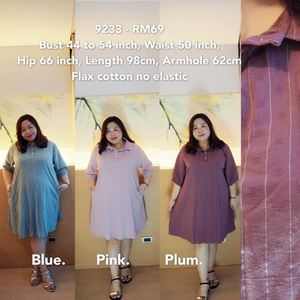 9233 Ready Stock *Bust 44 to 54 inch/ 112-137cm