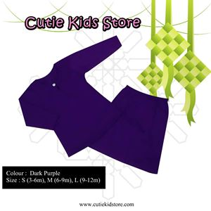 BAJU KURUNG BABY AULA (DARK PURPLE)