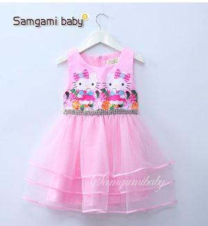 @  SAMGAMI DRESS 009 - KITTY PINK  ( SZ 100-140 )