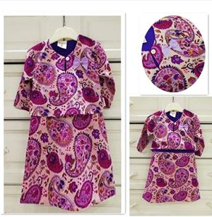 CRAZY CLEARANCE Baju Kurung Baby ( One-Piece)- PAISLEY