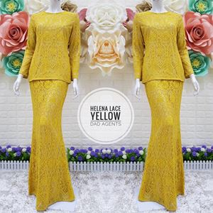 Kurung Helena Lace Yellow