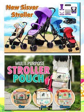 SISVER STROLLER + STROLLER POUCH SET