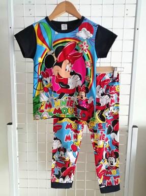 Pyjamas  Short Sleeve MINNIE DAISY CLUB HOUSE  Black ( Kids 2 -8)