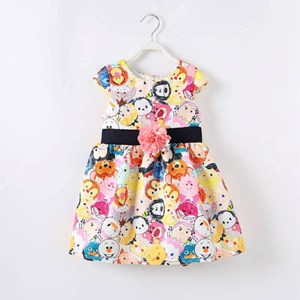 Disney Tsum Tsum Dress (With Flower Bow)