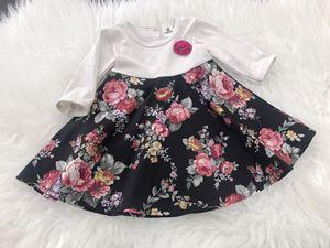 SALE - Aisya Dress ( Cream with Black English Rose)