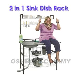 2 IN 1 SINK DISH RACK