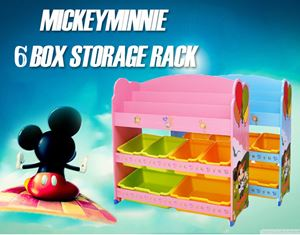 MickeyMinnie 6 box storage rack