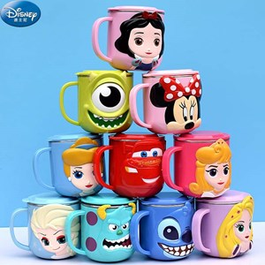 304 Stainless Steel 3D Cartoon Mug wth Seal Cover