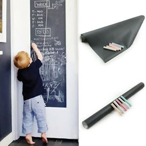 BLACK/WHITEBOARD STICKER 45*200CM
