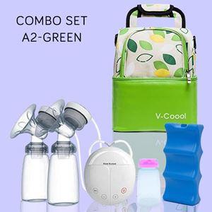 Combo Set Green - V-cool + Double Breast Pump