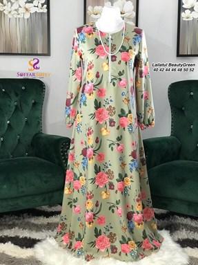 JUBAH DRESS LAILATUL BEAUTY GREEN