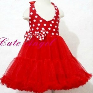 D250512 RED DRESS ( SIZE 100 - 3Y )