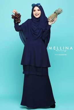 MELLINA STYLISH KURUNG 💕 02 (MIDNIGHT BLUE)