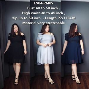 E904 *Ready stock * Bust 40 to 50inch/101-127cm