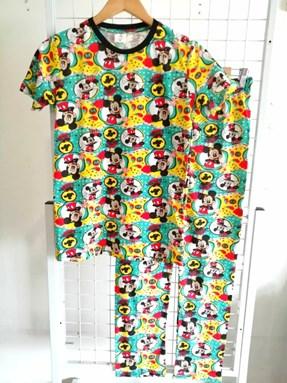 Pyjamas JR MICKEY GOSH : Size DEWASA M- 4XL